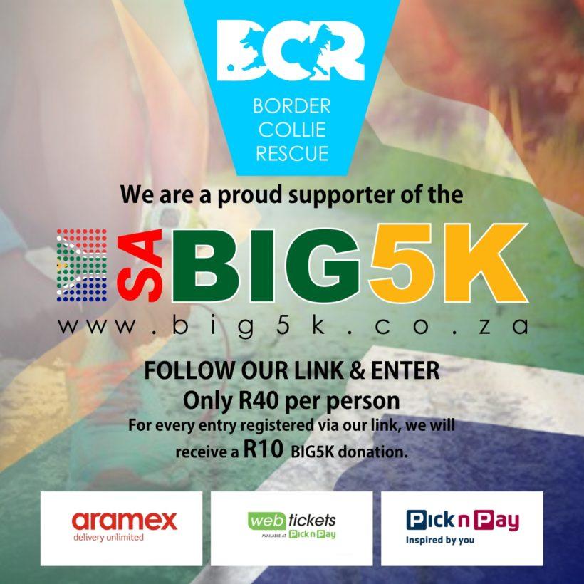 SA BIG5K Virtual Run Saturday 7th November